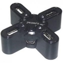 HUB MINI 4 PORTAS USB 2.0 ESTRELA PRETO 9109 - COMTAC