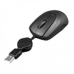 MOUSE ÓPTICO USB RETRÁTIL PRETO MO048 - MULTILASER