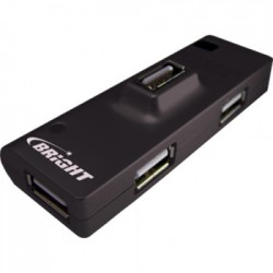HUB MINI 4 PORTAS USB 2.0 PRETO 0059 - BRIGHT