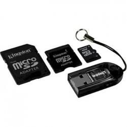 CARTÃO DE MEMÓRIA PARA CÂMERA SD 4GB MICRO COM 1 ADAPT. PARA PENDRIVE-MBLY4G2/4GB- KINGSTON