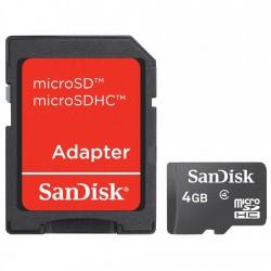 CARTÃO DE MEMÓRIA MICRO SD 4GB COM ADAPTADOR SDSDQM-004G-B35A - SANDISK
