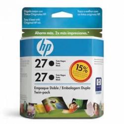 CARTUCHO HP 27 TWIN PACK (2XC8727AL) C9322FL PRETO - HP