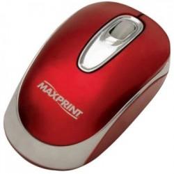 MOUSE ÓPTICO USB VERMELHO 60275-4 - MAXPRINT