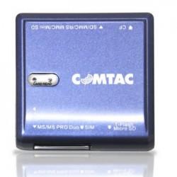 LEITOR DE CARTÕES DE MEMÓRIA E SIM CARD USB 9163 - COMTAC