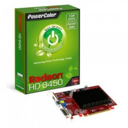 PLACA DE VÍDEO PCIEXP 1GB 64-BIT DDR3 HD6450 AX6450-1GBK3-SHV4 - POWERCOLOR