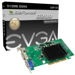 PLACA DE VÍDEO AGP 512MB 64-BIT DDR2 FX6200 512-A8-N403-LR - EVGA