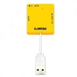 LEITOR DE CARTÕES DE MEMÓRIA COMPACT POCKET USB 2.0 PRETO 9207 - COMTAC