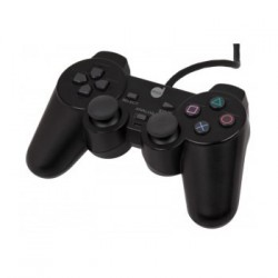 JOYPAD DUAL SHOCK PARA PLAYSTATION 2 PRETO 6293-3 - DAZZ
