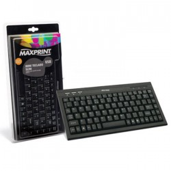 TECLADO MINI MULTIMIDIA USB PRETO 60724-4 - MAXPRINT