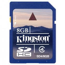 CARTÃO DE MEMÓRIA PARA CÂMERA SD 8GB SD4/8GB - KINGSTON