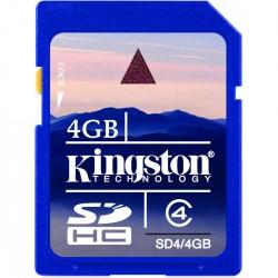 CARTÃO DE MEMÓRIA PARA CÂMERA SD 4GB SD4/4GB - KINGSTON