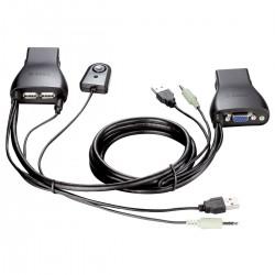 SWITCH KVM 2 PORTAS USB COM SUPORTE PARA AUDIO KVM-222 - D-LINK