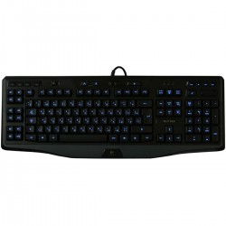TECLADO MULTIMÍDIA USB GAMER LED PRETO/AZUL G110 - LOGITECH