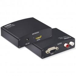 CONVERSOR HDMI PARA VGA + ÁUDIO 9219 PRETO - COMTAC