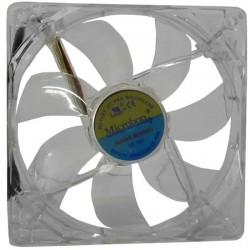 COOLER PARA GABINETE 8CM LED AZUL BLD08025 - MICROBON