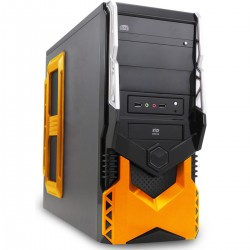 GABINETE ATX GAMER 3 BAIAS SEM FONTE 2 USB 2.0 PRETO/LARANJA HT5A25O06S - PIXXO